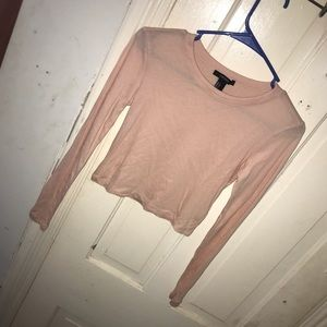 Basic forever 21 long sleeved cropped top